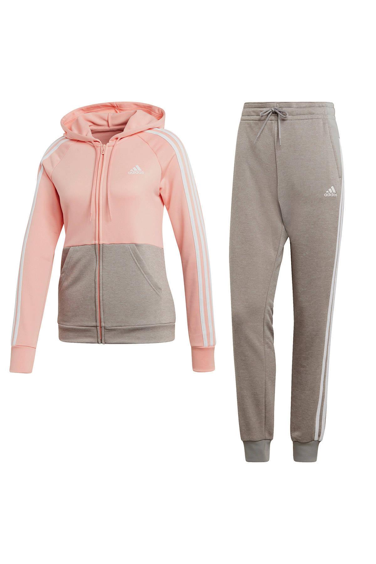 adidas Performance trainingspak roze/grijs | wehkamp