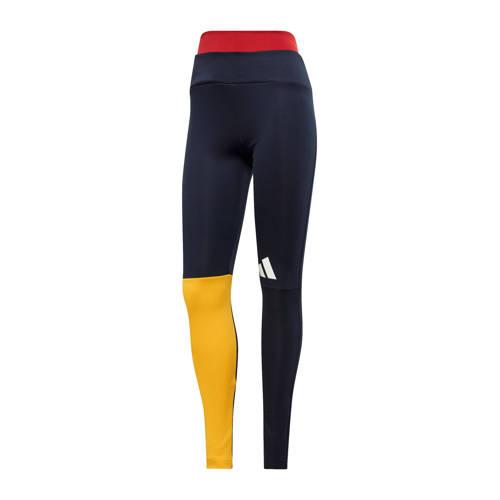 adidas performance sportbroek zwart-geel