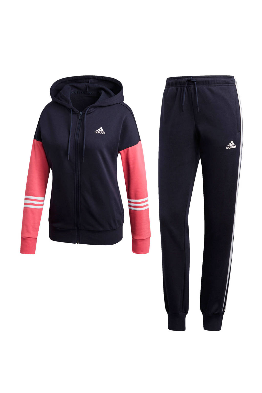 adidas performance trainingspak zwart/roze, Zwart/roze