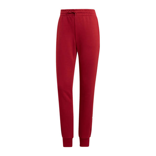 Adidas Damesbroek Linear voor pilates-lichte gym slim fit rood