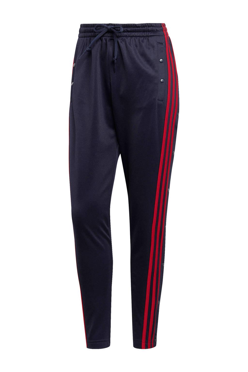 adidas performance sportbroek donkerblauw/rood, Donkerblauw/rood