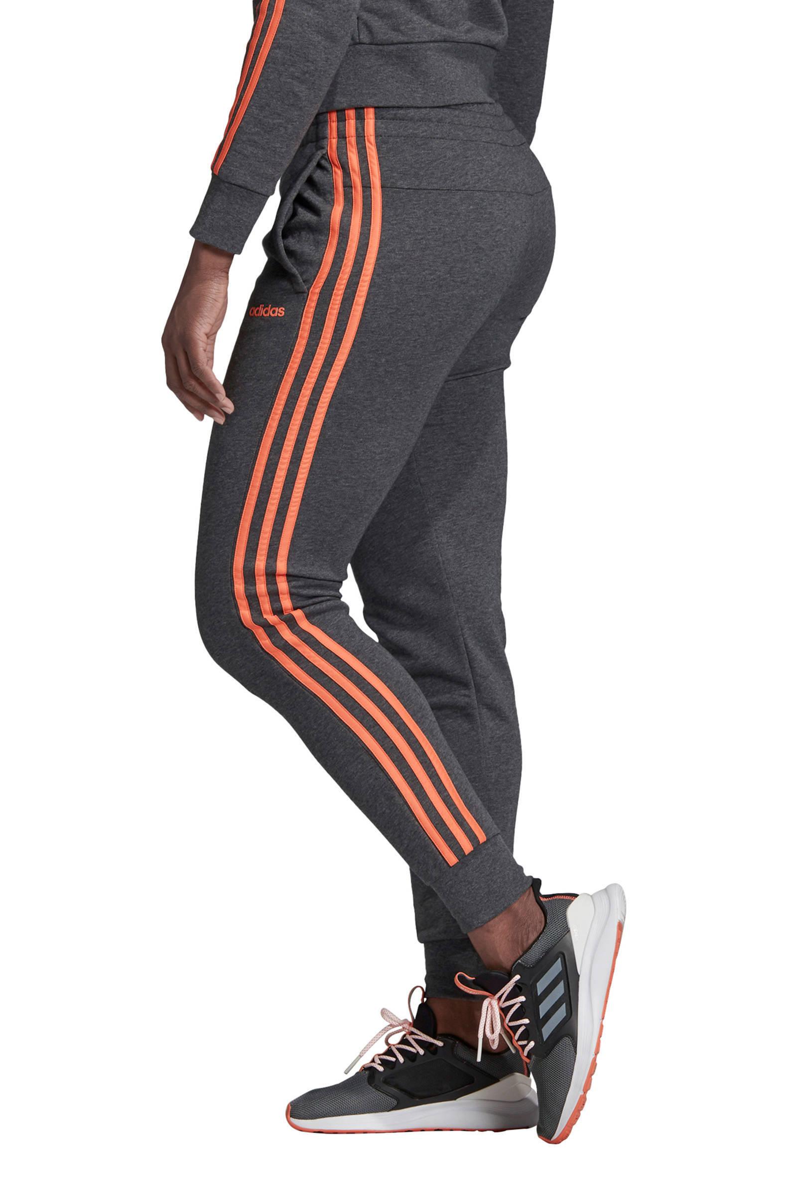 adidas Performance joggingbroek grijs/oranje | wehkamp