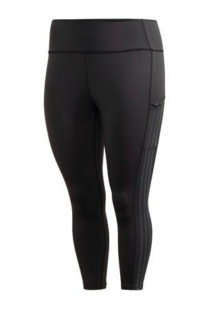 Plus Size 7/8 sportbroek zwart