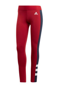 adidas Performance sportbroek donkerrood, Donkerrood/blauw/wit