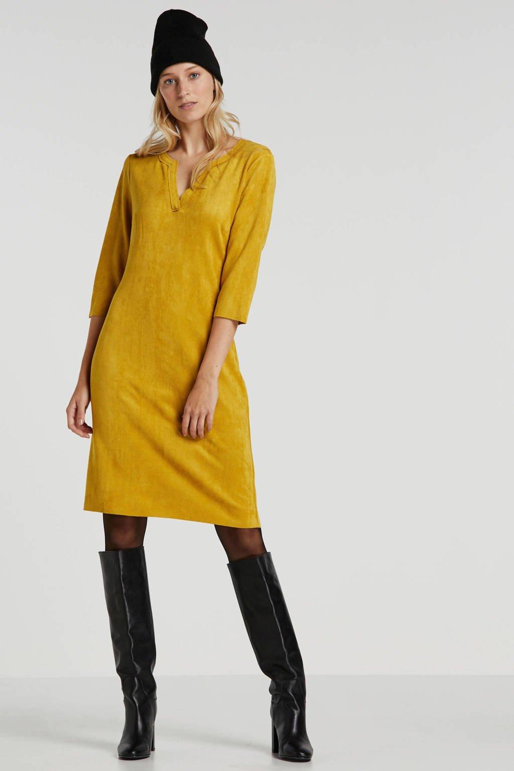 Summum Woman jurk okergeel, Okergeel