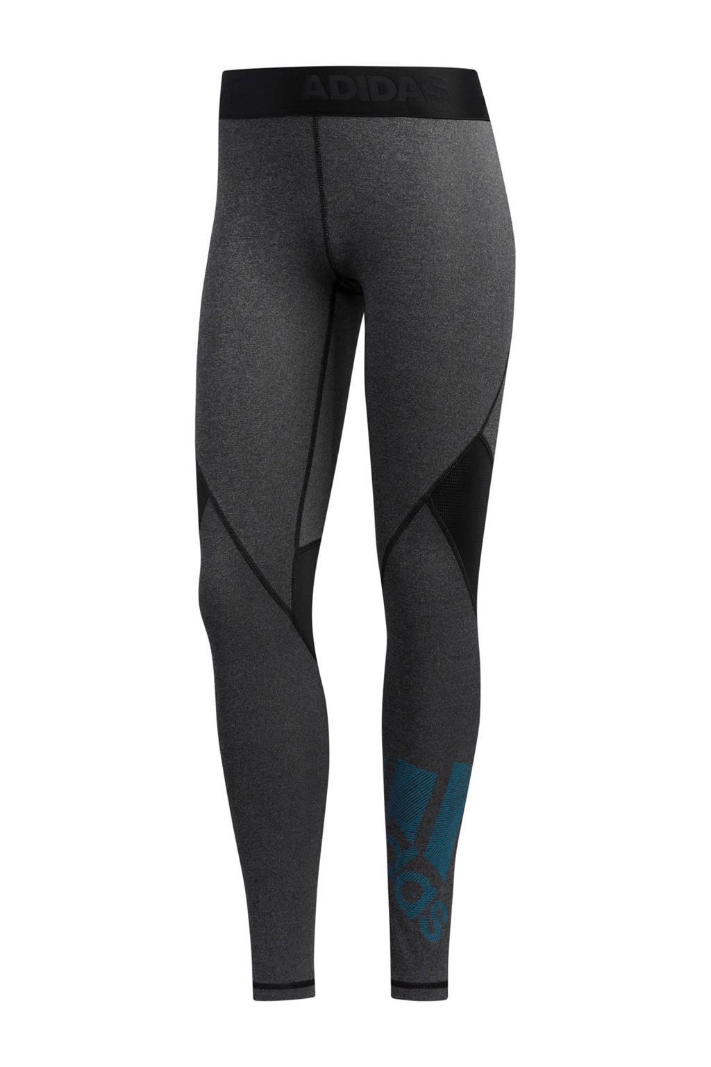 adidas performance sportbroek zwart/grijs, Zwart/grijs