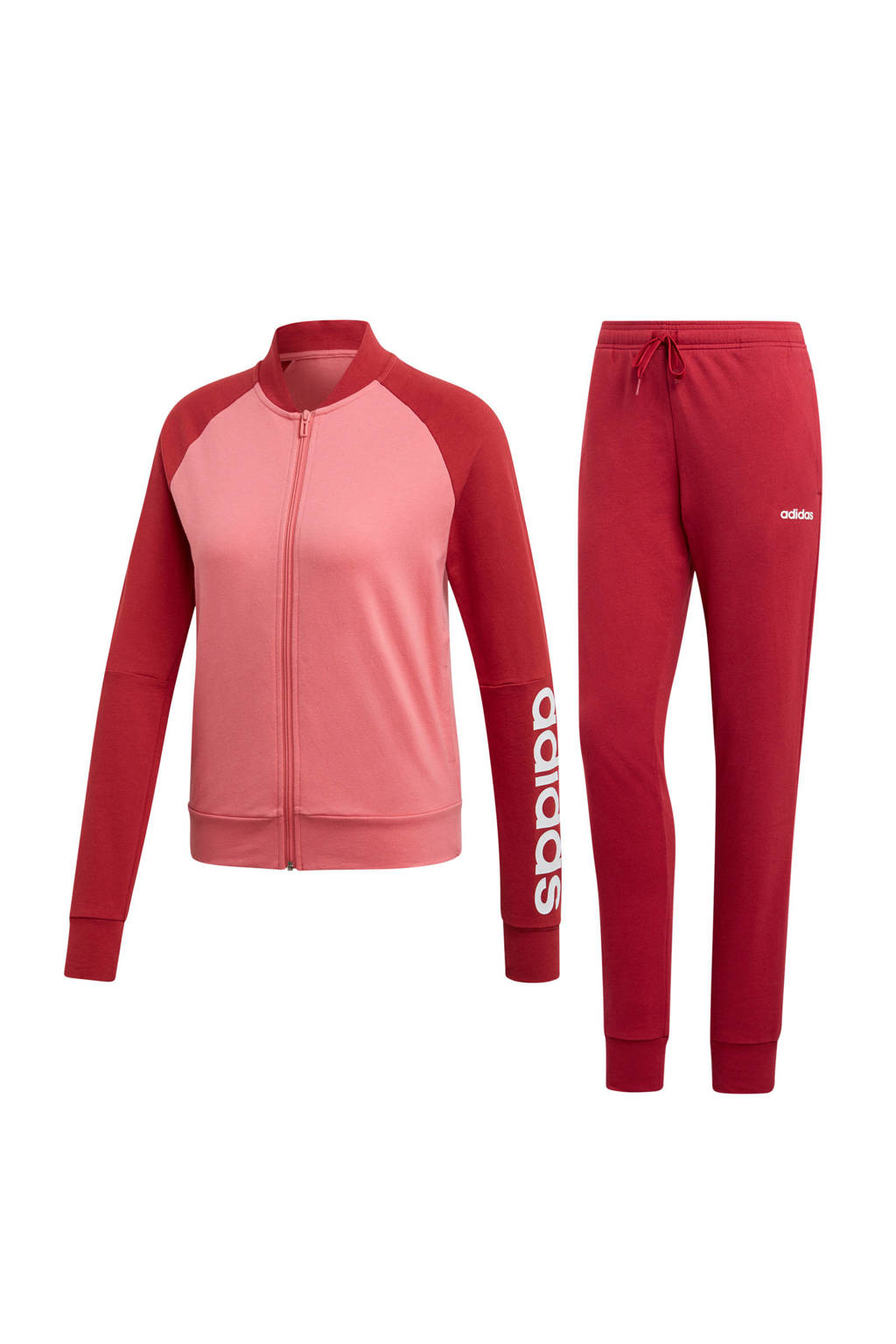 adidas performance trainingspak roze/rood, Roze/rood