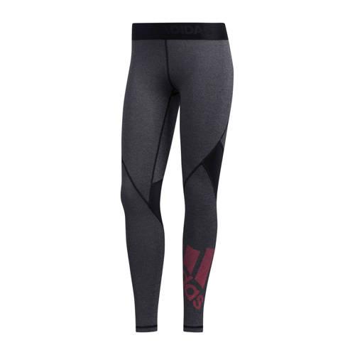 adidas performance sportbroek zwart-grijs-roze