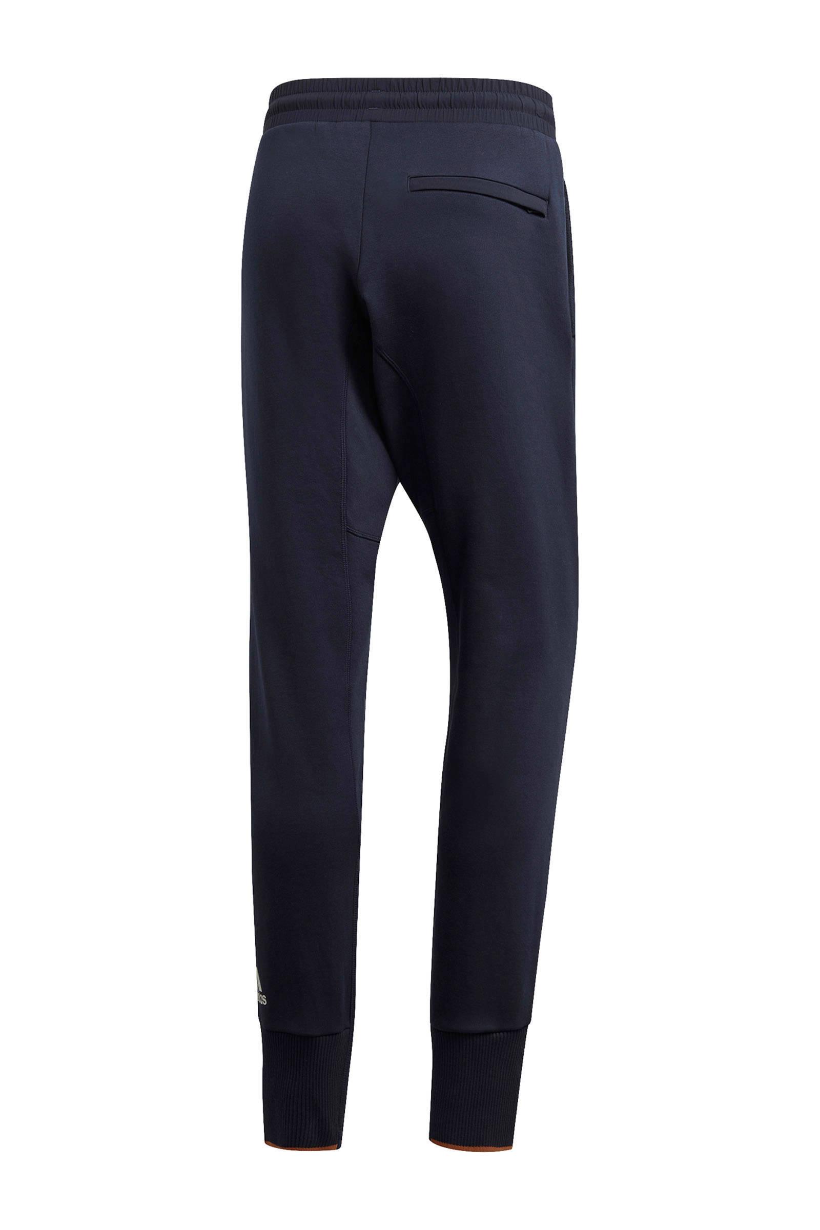 adidas Performance slim fit joggingbroek donkerblauw | wehkamp