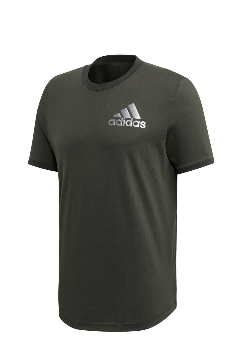 adidas performance   sport T-shirt antraciet, Antraciet
