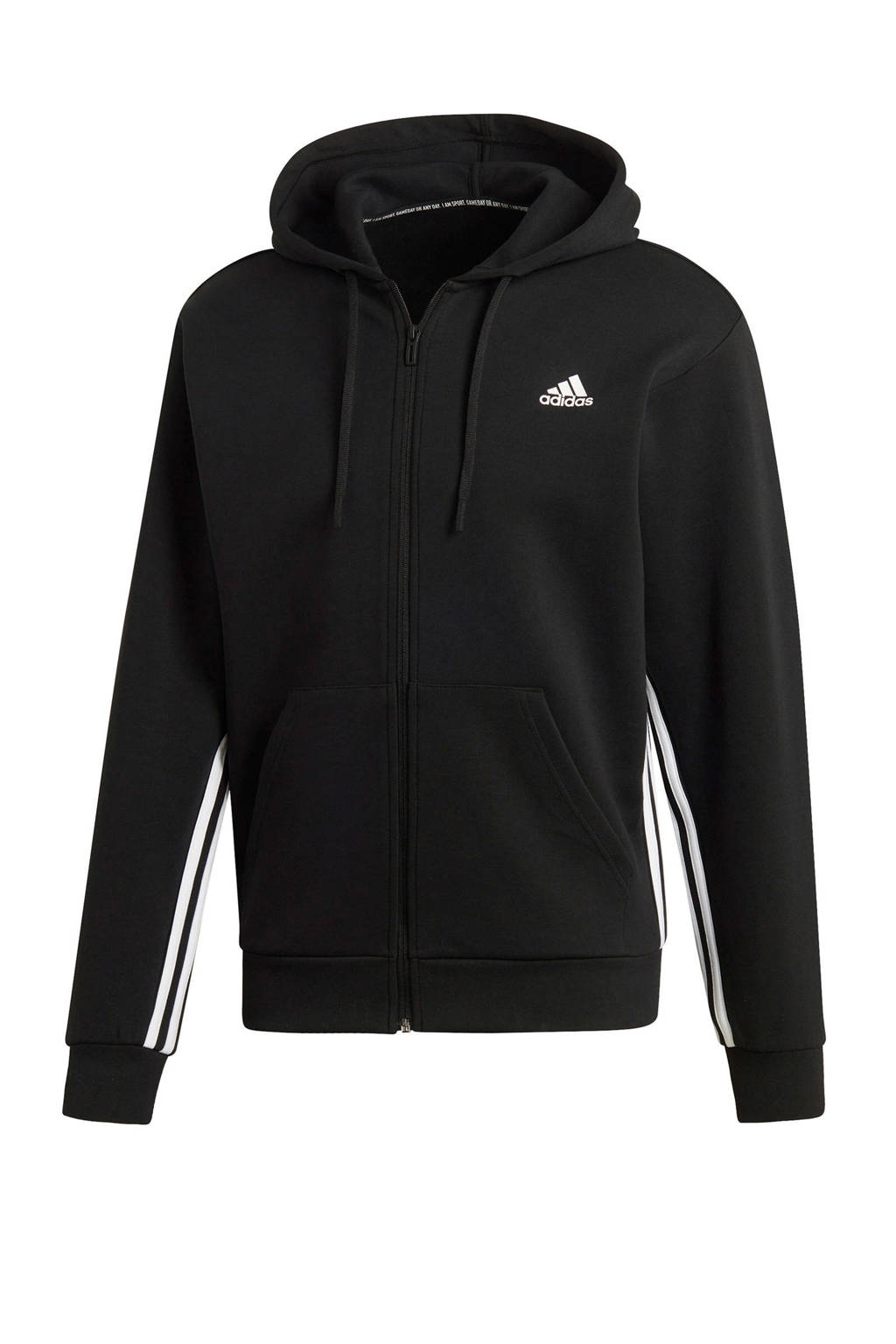 adidas   sportvest zwart, Zwart