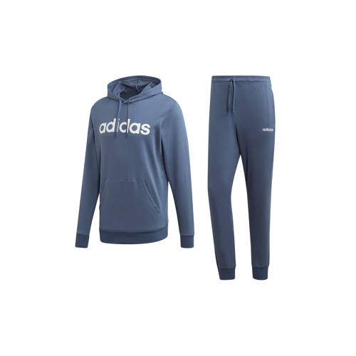 adidas performance trainingspak grijs-donkerblauw