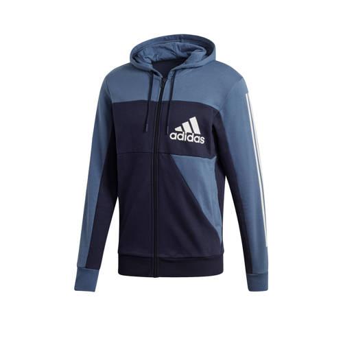 adidas performance sportvest donkerblauw