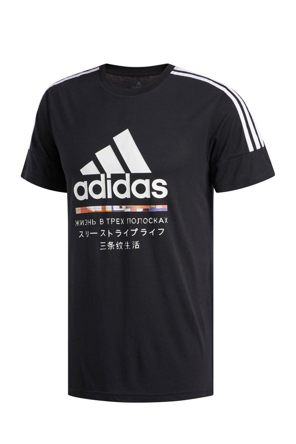 adidas   sport T-shirt zwart, Zwart