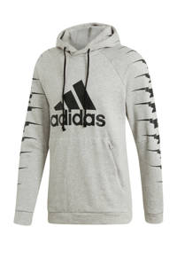 adidas   sportsweater, Grijs melange/zwart