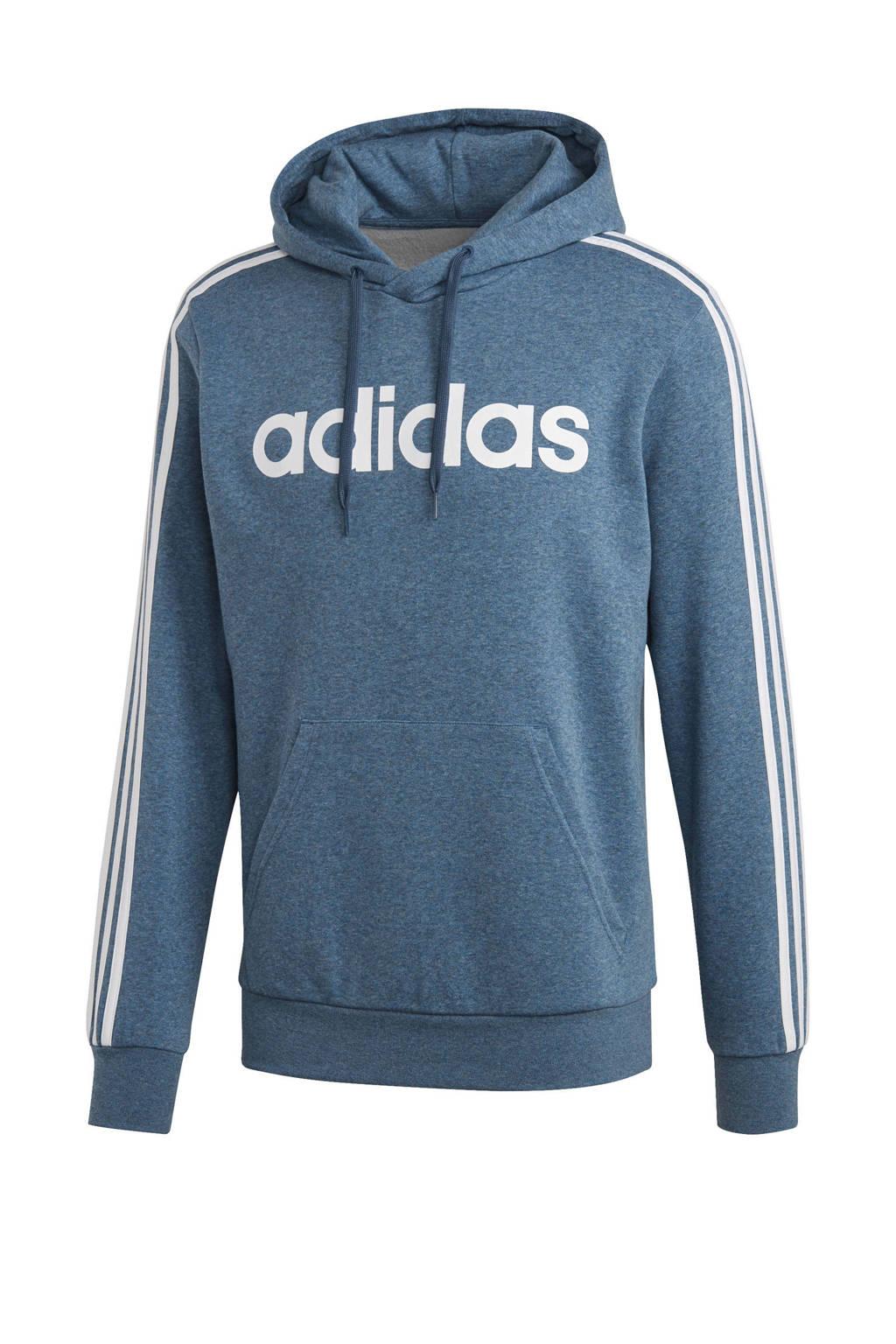 adidas   sportsweater grijsblauw, Grijsblauw/wit