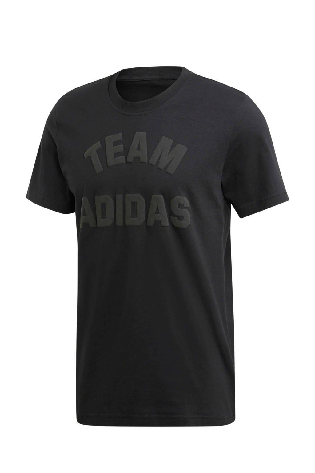 adidas   sport T-shirt antraciet, Black