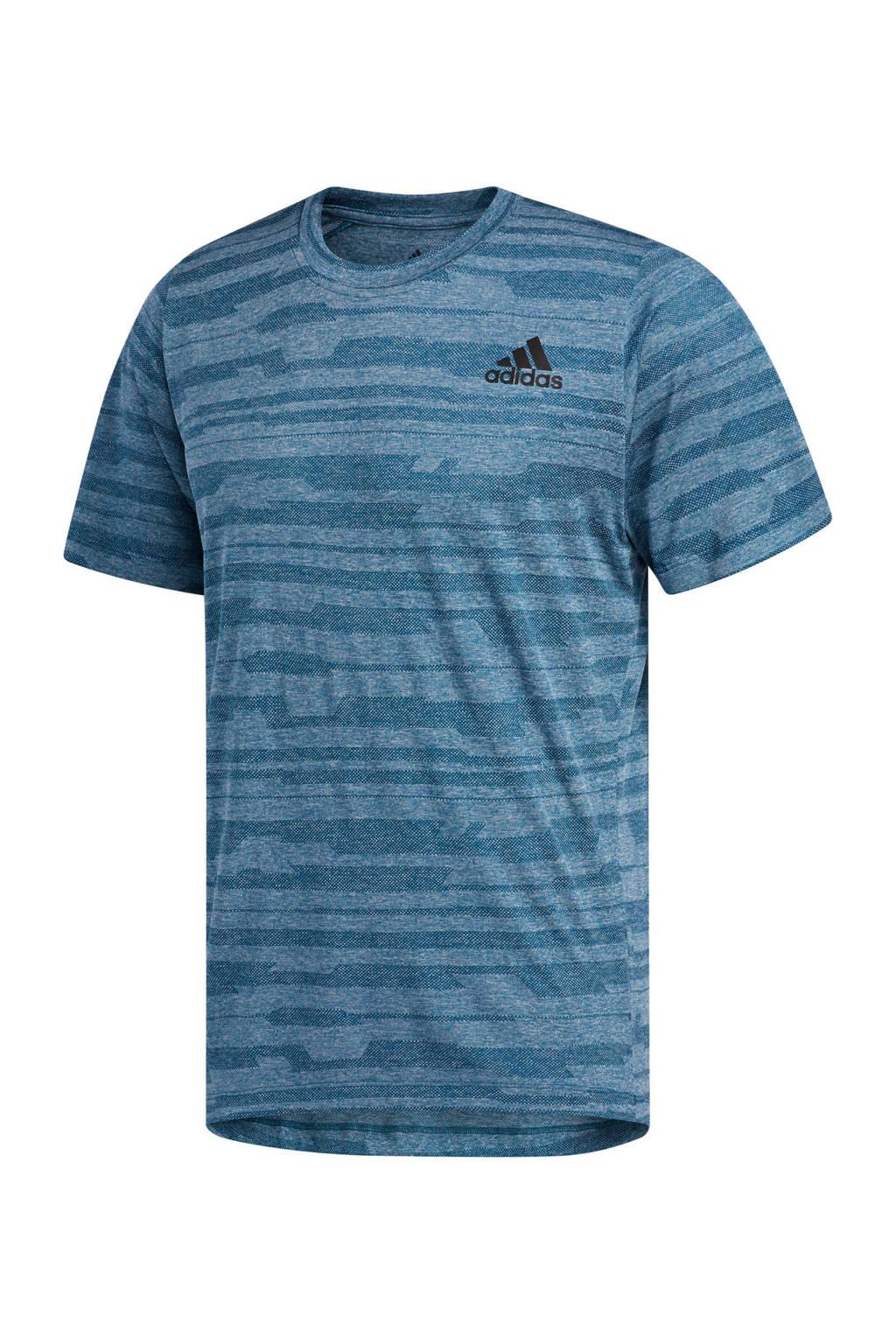 adidas performance   sport T-shirt blauw melange