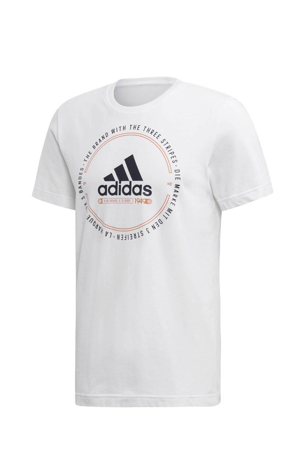 adidas   sport T-shirt wit, Wit