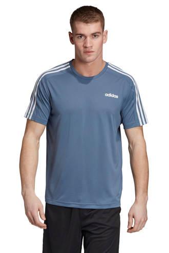 performance   sport T-shirt grijsblauw