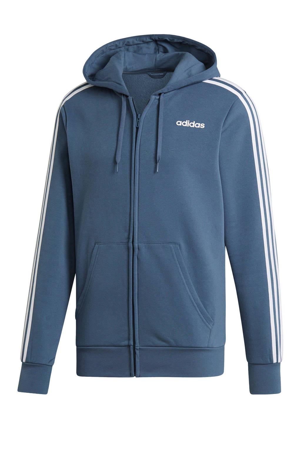 adidas   sportvest grijsblauw, Grijsblauw