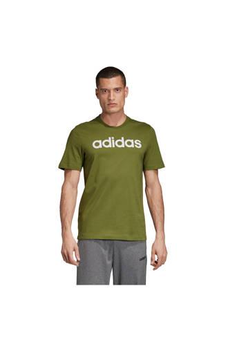 performance   sport T-shirt olijfgroen