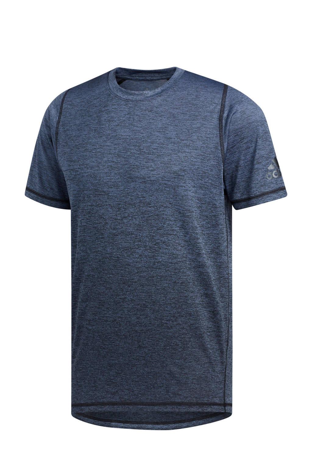 adidas   sport T-shirt donkerblauw, Donkerblauw