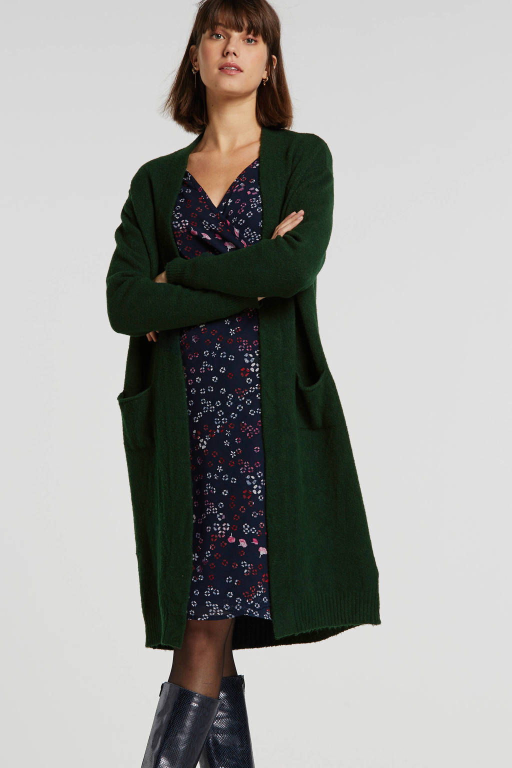 Summum Woman vest met wol donkergroen, Donkergroen