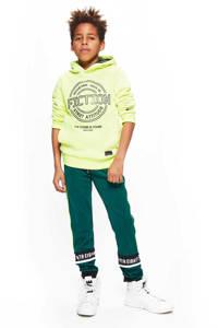 Retour Denim hoodie Flip met printopdruk neon geel, Neon geel