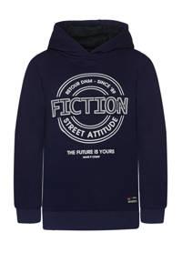 Retour Denim hoodie Flip met printopdruk donkerblauw, Donkerblauw