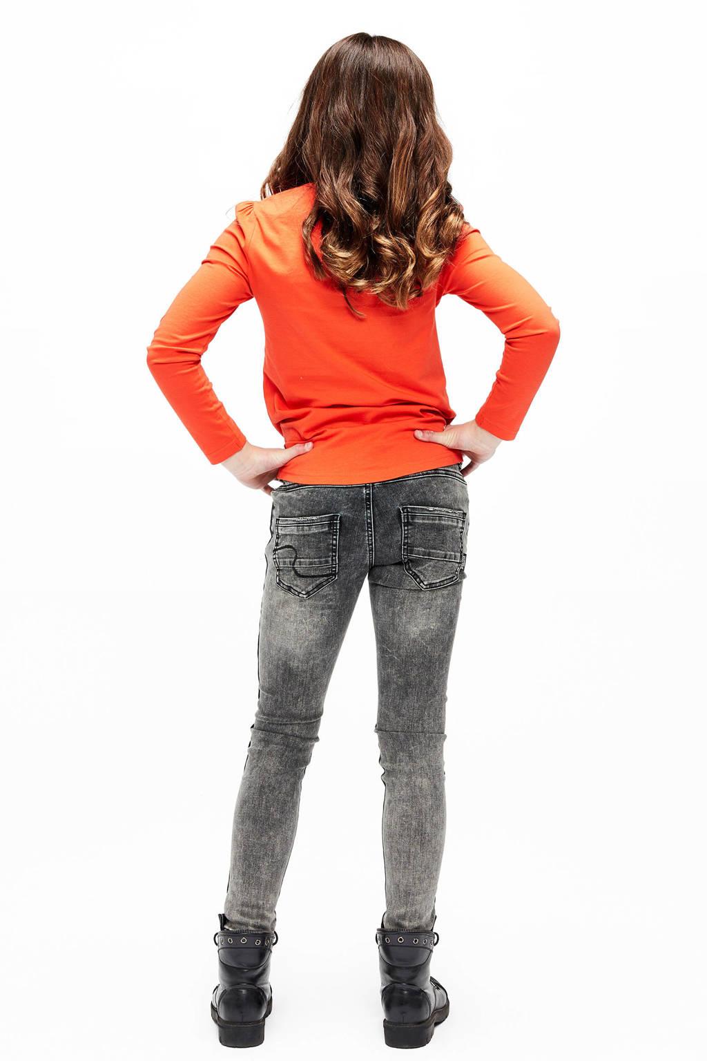 Retour Denim skinny jeans Ivory met zijstreep, Donkergrijs
