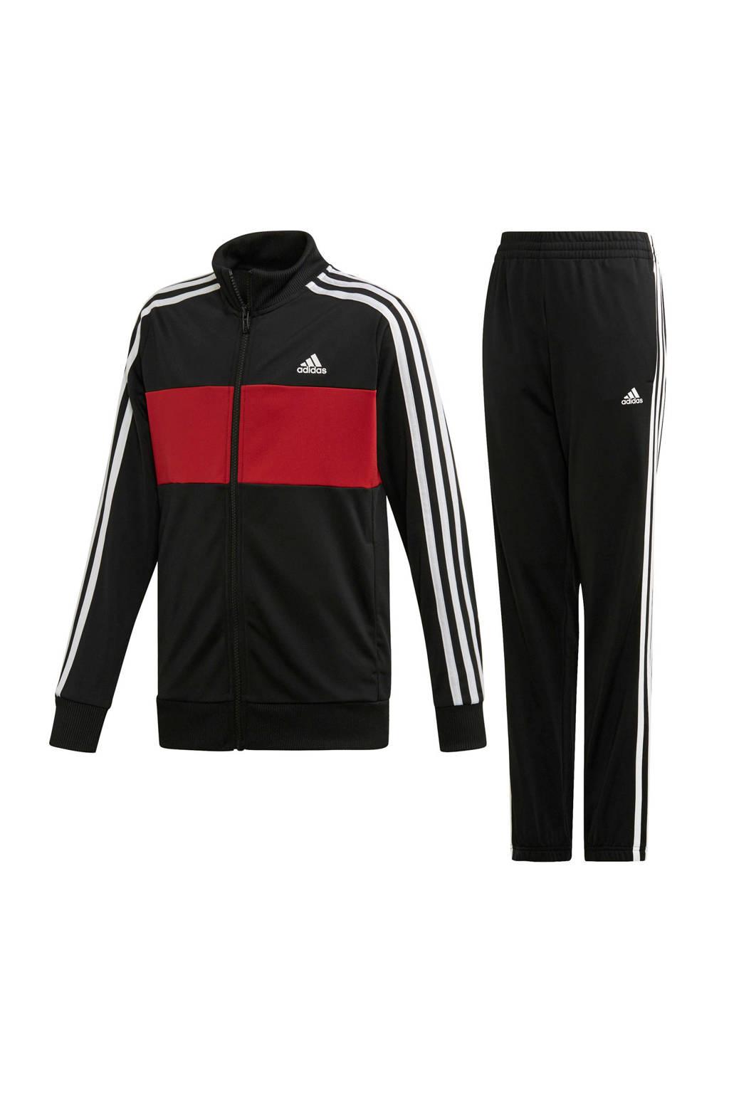 adidas performance   performance trainingspak zwart, Zwart/rood/wit