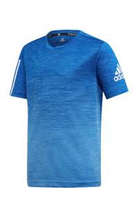 adidas   sport T-shirt blauw, Blauw/wit