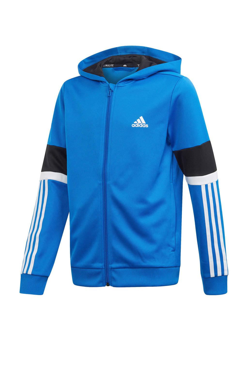 adidas   sportvest blauw, Blauw/zwart/wit