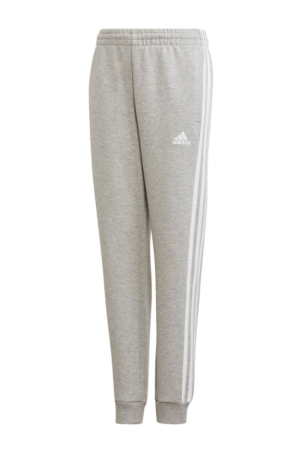 adidas   regular fit joggingbroek grijs melange, Grijs melange