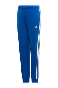 adidas   regular fit joggingbroek blauw/wit, Blauw/wit