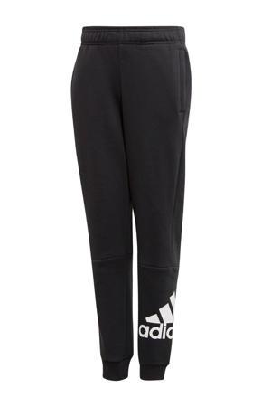 joggingbroek met logo zwart/wit