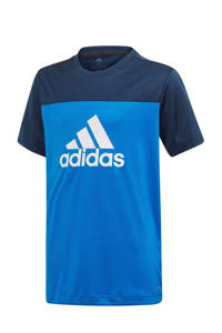 adidas   sport T-shirt blauw, Donkerblauw/blauw//wit