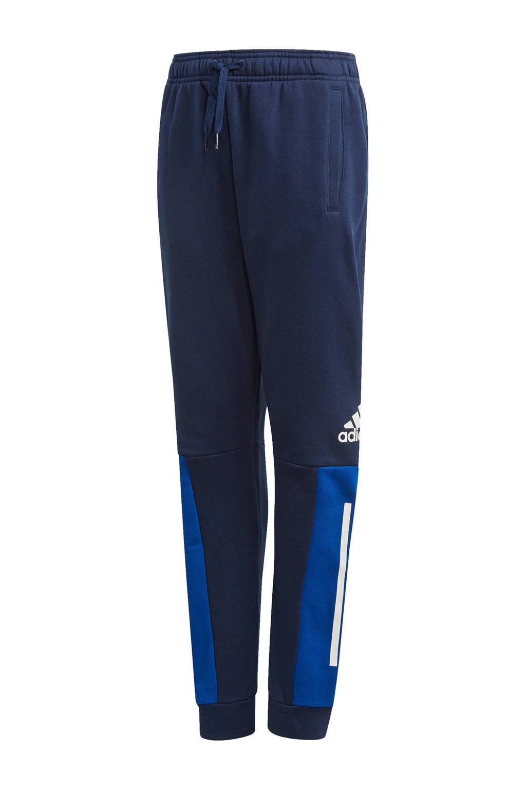 adidas   sportbroek donkerblauw/blauw, Donkerblauw/blauw
