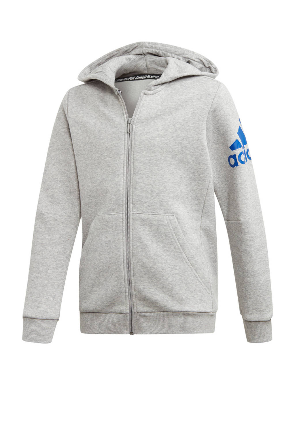 adidas performance   sportvest grijs melange, Grijs melange/blauw
