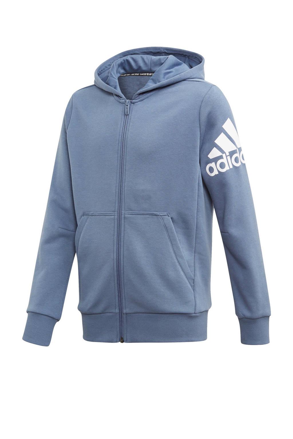 adidas performance   sportvest grijsblauw, Grijsblauw