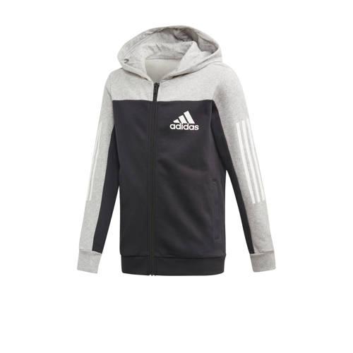 adidas performance sportvest zwart-grijs