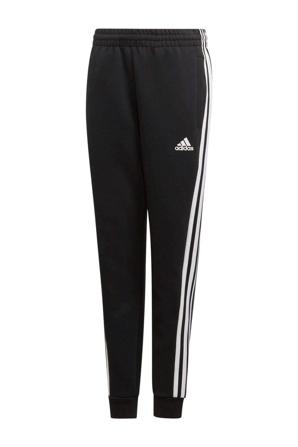 adidas   regular fit joggingbroek zwart/wit, Zwart/wit