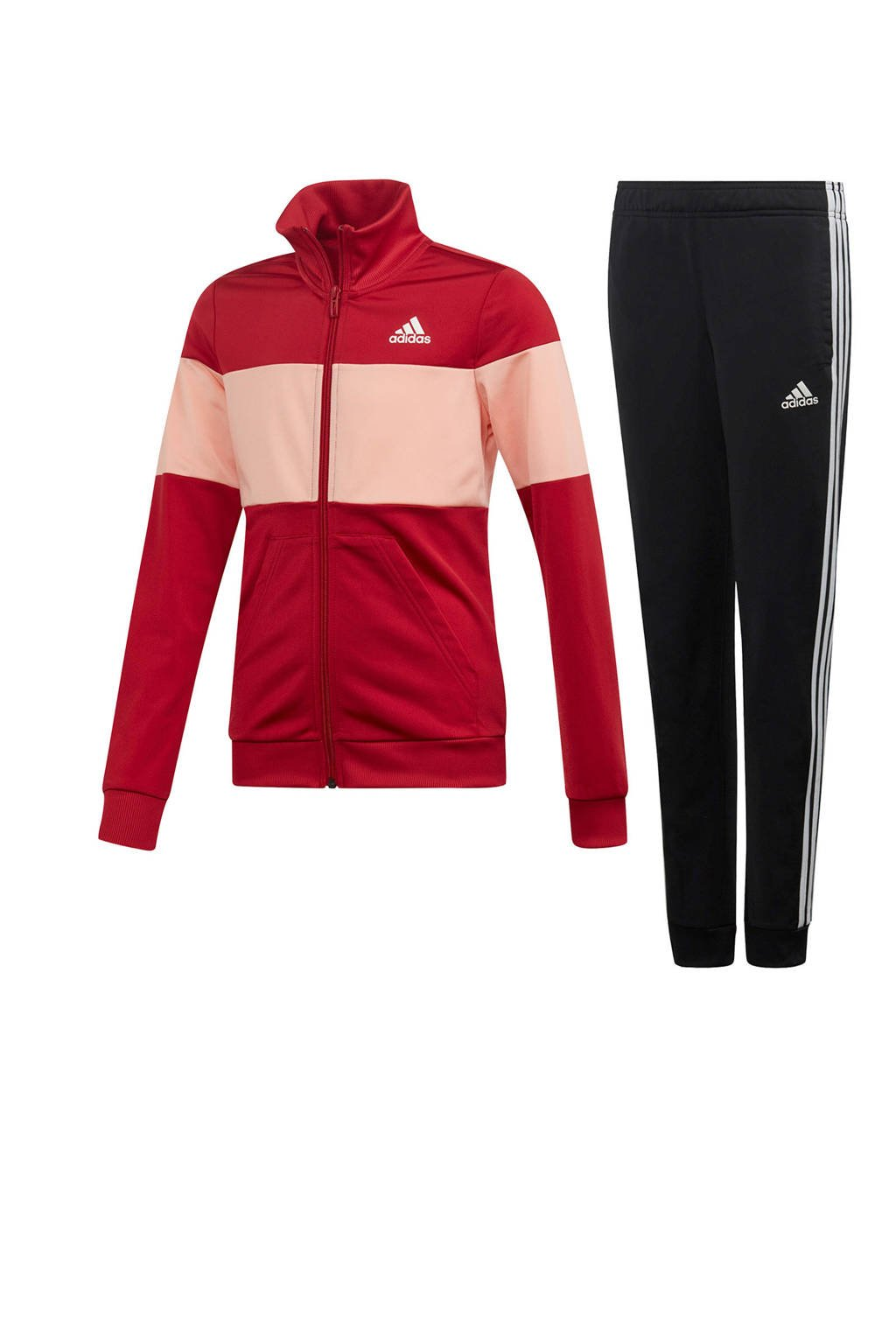 adidas performance trainingspak rood/zwart, Rood/roze/zwart
