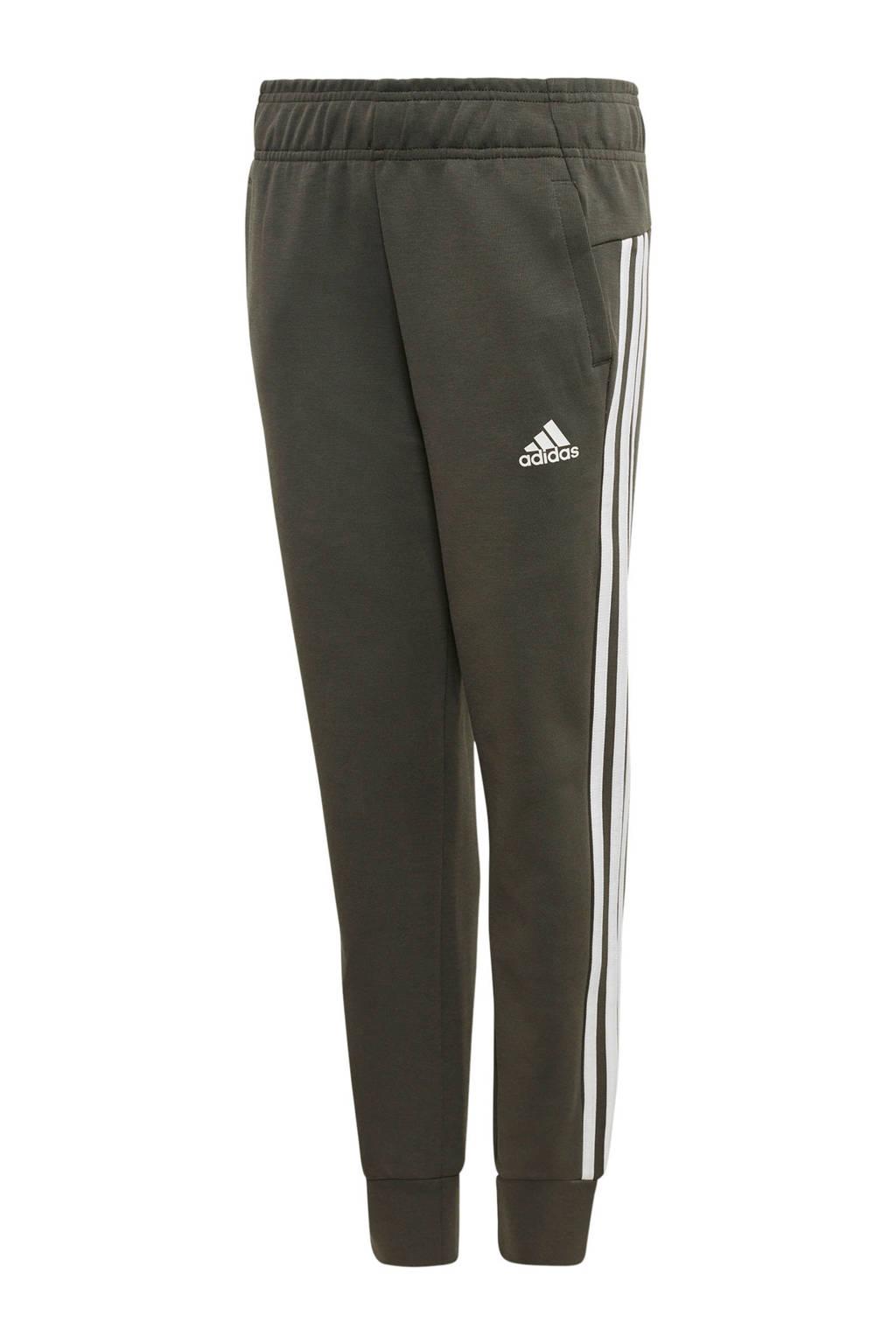adidas joggingbroek antraciet, Antraciet/wit
