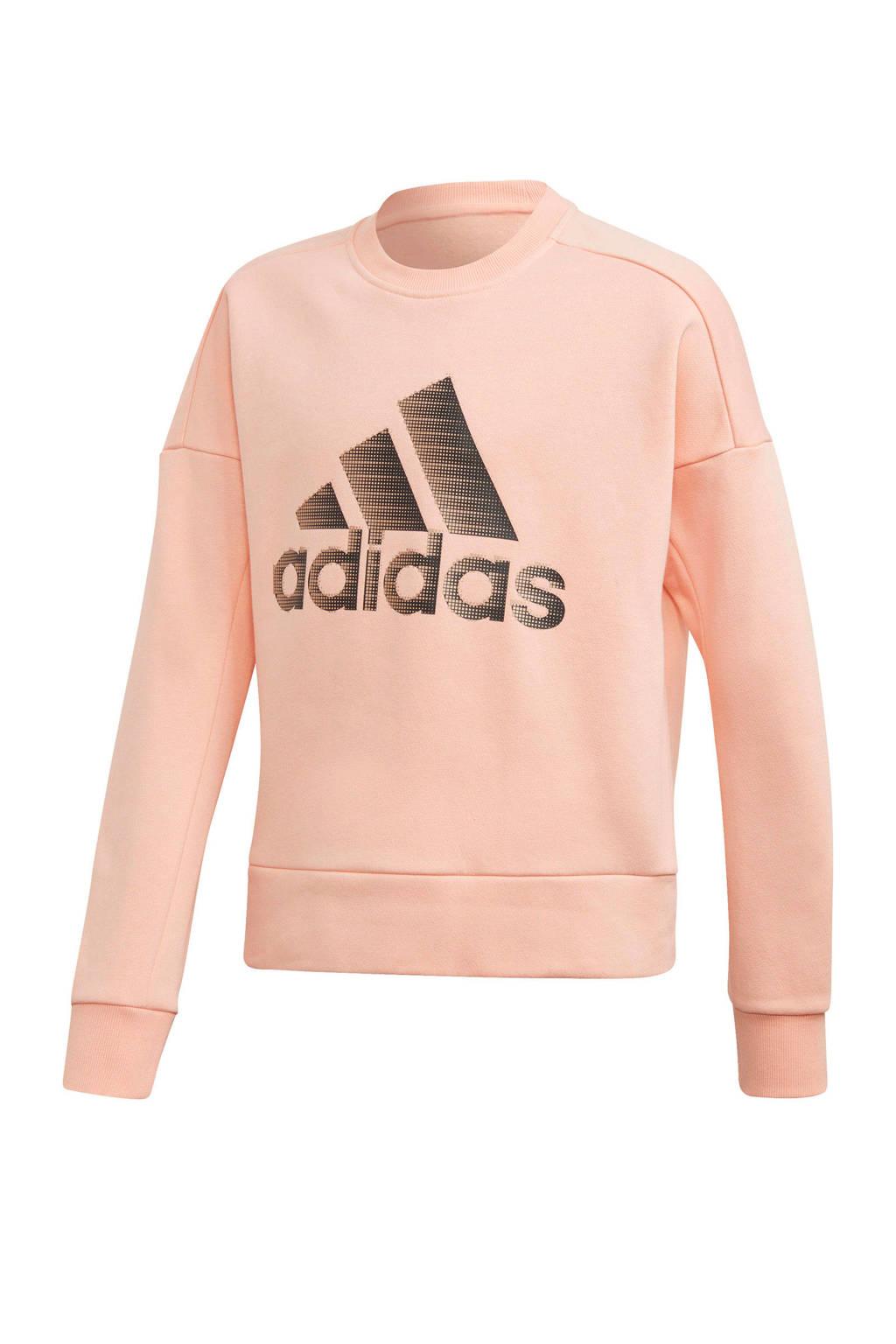 adidas performance sportsweater, Roze/zwart