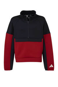 adidas sportsweater, Donkerblauw/wit/rood
