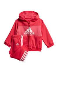 adidas Performance joggingpak roze/wit, Roze/wit