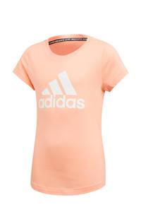 adidas sport T-shirt roze, Roze/wit
