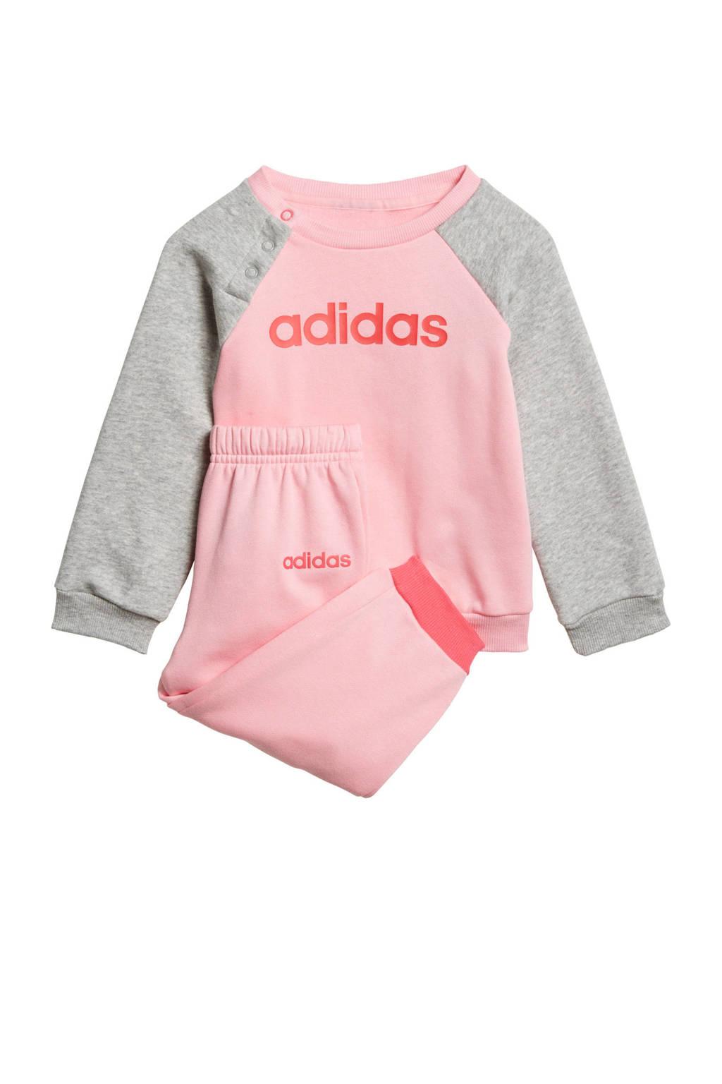 adidas performance   joggingpak lichtroze/grijs, Lichtroze/grijs
